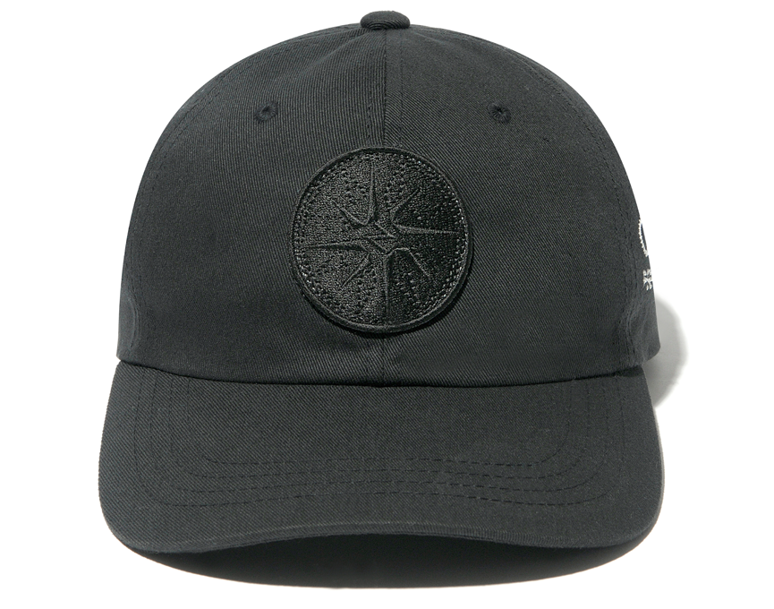 BACK CHANNEL x BORDER - COTTON TWILL CAP / BLACK